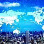 世界地図、グローバルネットワーク